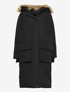W. Long Parka - parka coats - black