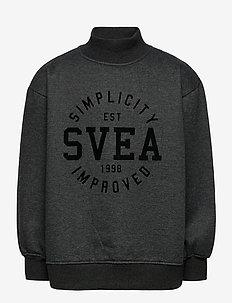 K. Mock Neck Sweat - sweatshirts - washed black