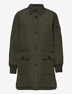 W. Queens Shirt Jacket - quilted jackets - dark army