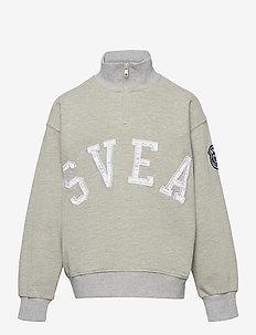 K. Half Zip Svea Sweat - sweatshirts - grey melange
