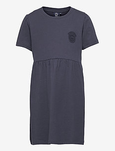 K. T-shirt Frill Dress - jurken - navy
