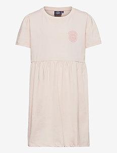 K. T-shirt Frill Dress - jurken - nude