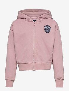 K. Malaga Zip Hood - hoodies - berry