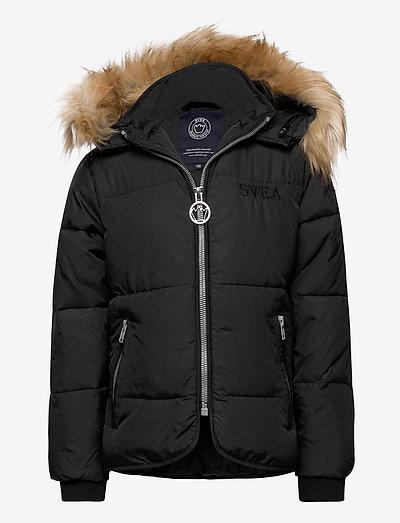 K. Short Slim Jacket - isolierte jacken - black