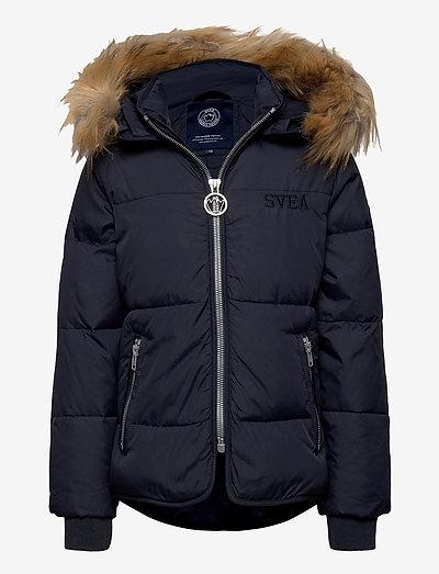 K. Short Slim Jacket - isolierte jacken - navy