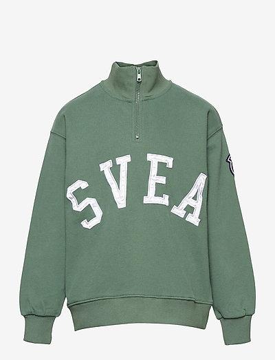 K. Half Zip Svea Sweat - sweatshirts - grass green