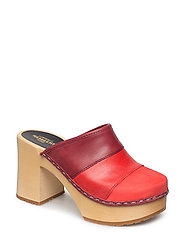 Color Combo Slip In - RED NUBUCK COLOR COMBO