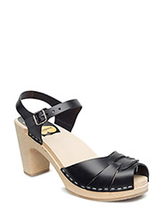 aa666b4c743 Peep toe Super High - BLACK NATURE SOLE