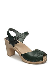 Peep toe Super High - DEEP GREEEN