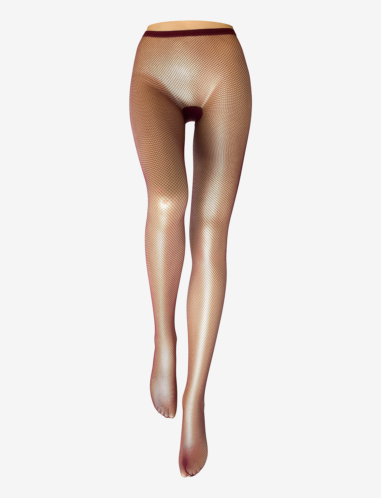 Swedish Stockings - Liv net tights micro net - panty's - wine - 1