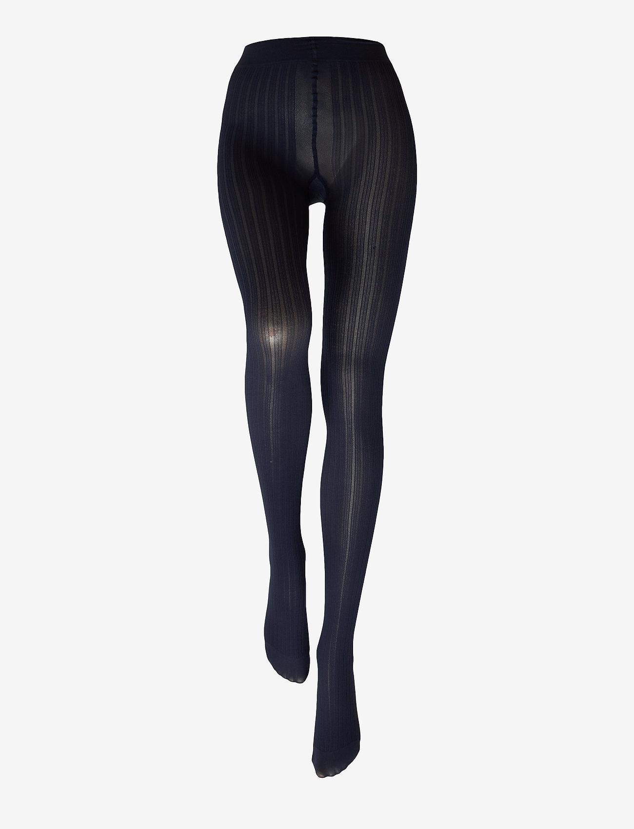 Swedish Stockings - Alma rib tights 60D - panty's - dark navy - 1
