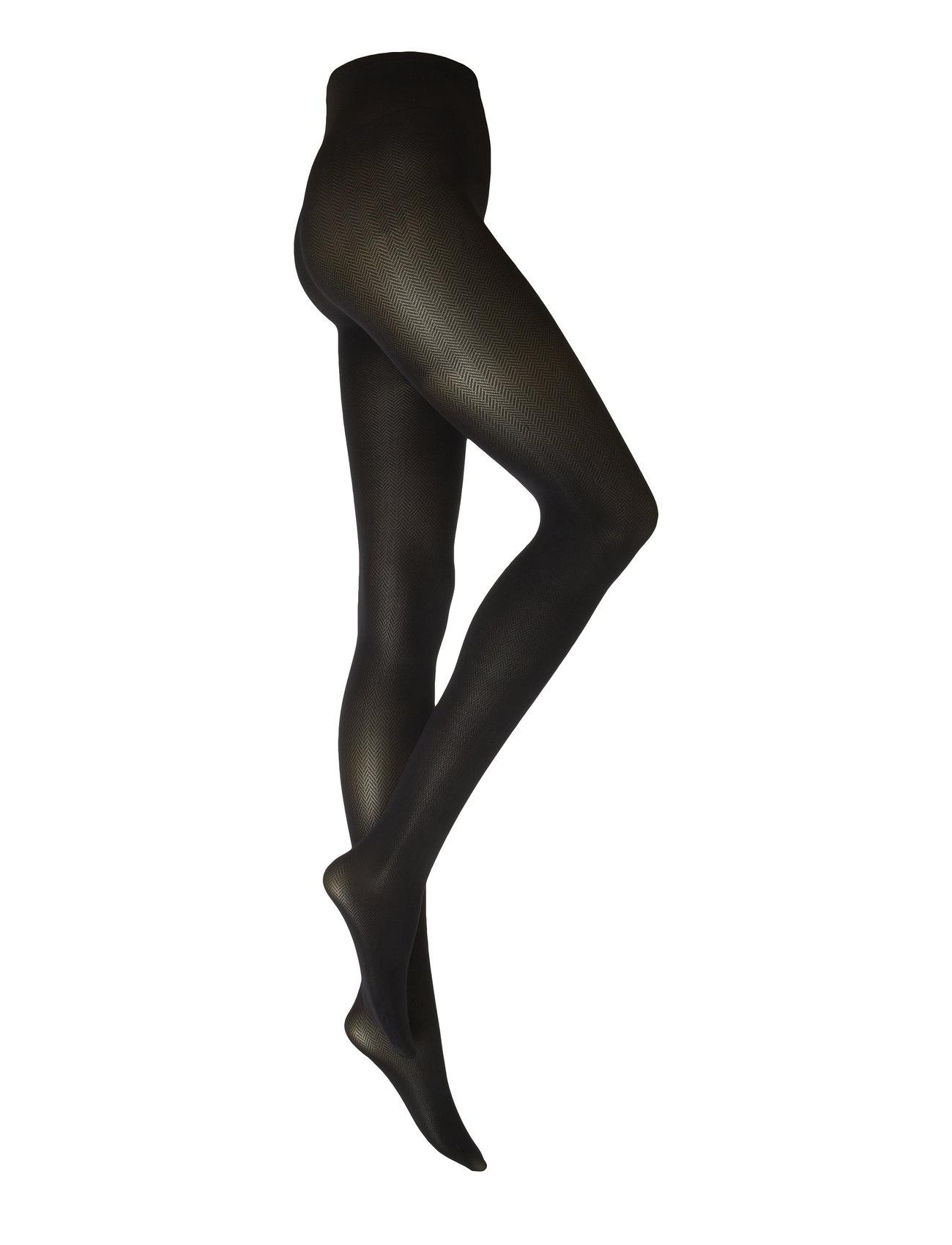 Swedish Stockings Nina Fishbone tights 40D - BLACK