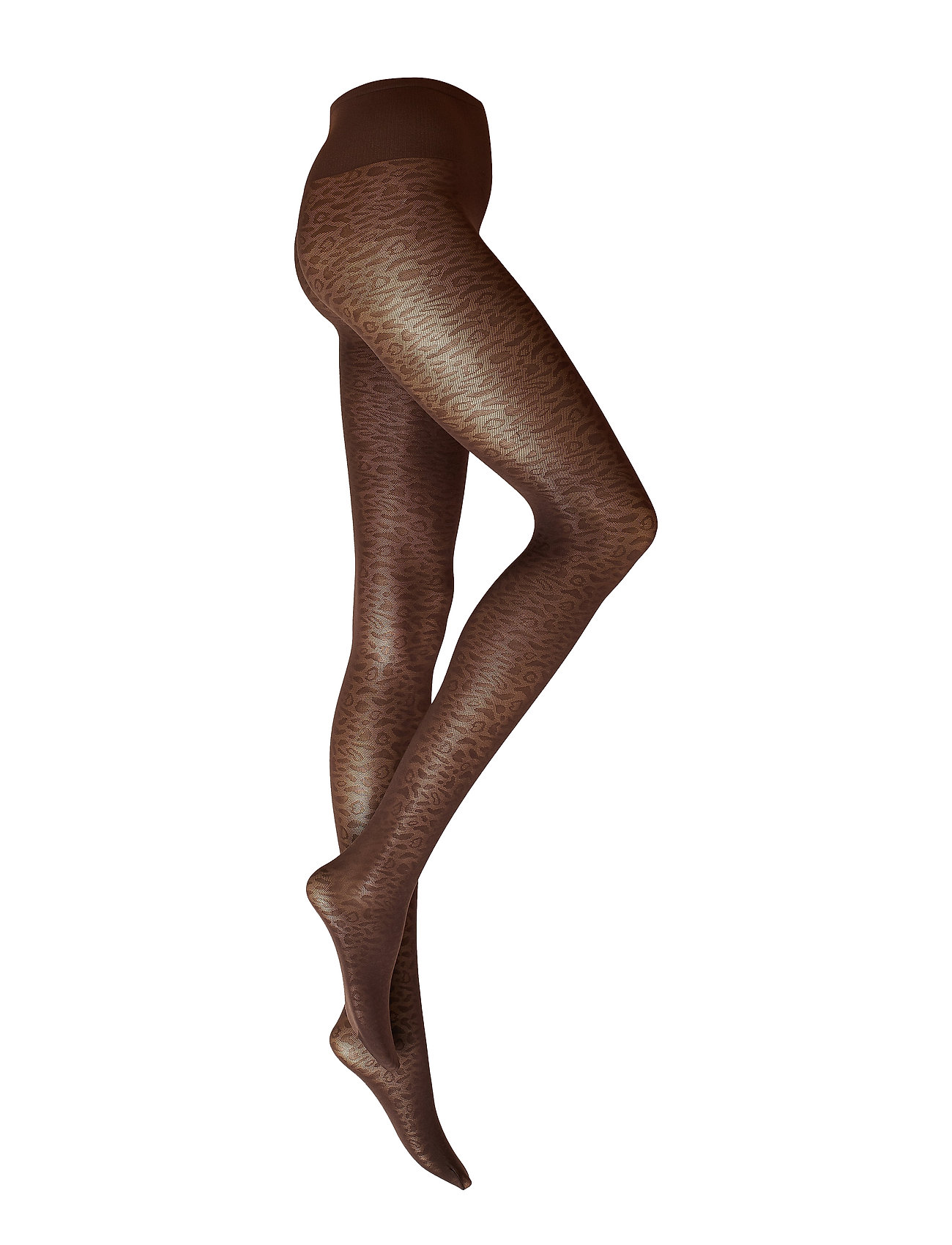 Swedish Stockings Emma Leopard Tights - BROWN