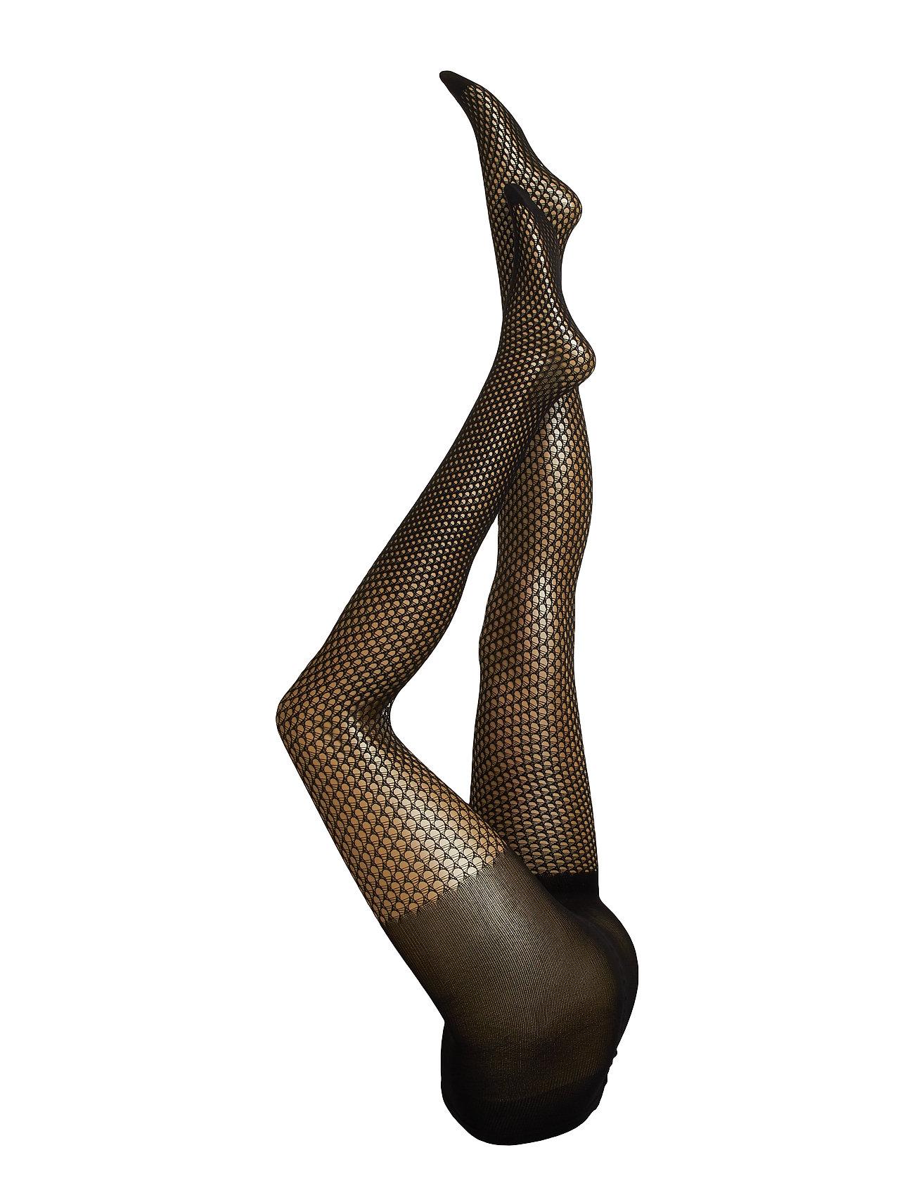 Swedish Stockings Vera net tights micro net - BLACK