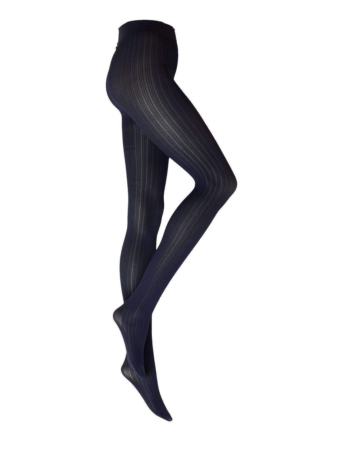 Swedish Stockings Alma rib tights 60D - DARK NAVY