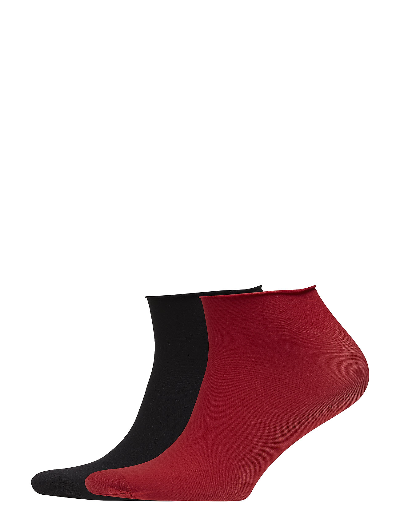 Swedish Stockings Judith Premium socks 2-pack 30D - BLACK/DARK RED