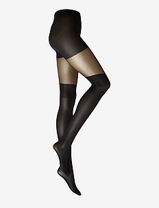 Dagmar Over-knee Tights 20/80 den - strømpebukser - black