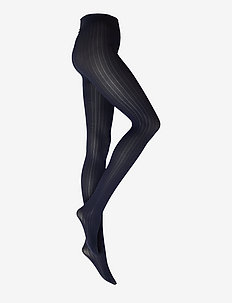 Alma rib tights 60D - strømpebukser - dark navy