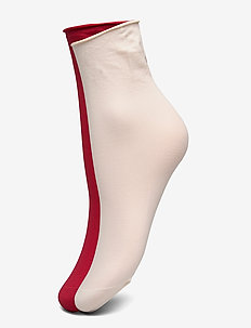 Judith 2-pack 30 denier - socken - creme/dark red