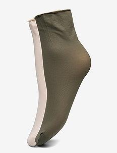 Judith 2-pack 30 denier - sokker - creme/khaki