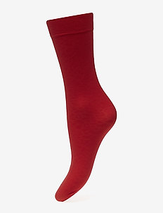 Emma leopard sock - socken - sharp red