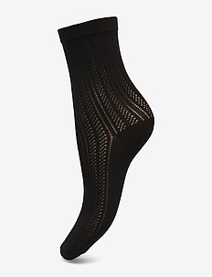 Klara knit sock - BLACK