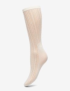 Klara knit sock - sokker - ivory