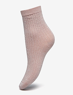 Stella shimmery sock - socken - dusty pink