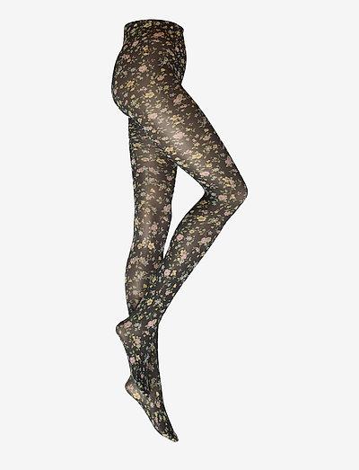 ADA FLOWER TIGHTS - ondergoed - black/multi