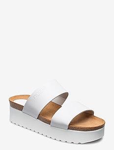 Hedda - sandalen mit absatz - white