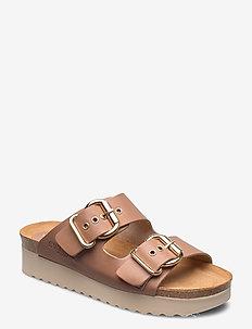 Greta - platta sandaler - beige