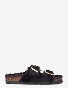 Edit - flade sandaler - black
