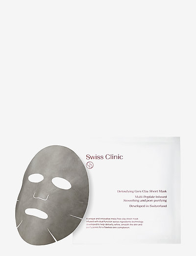 Detoxifying Grey Clay Mask - sheet mask - clear