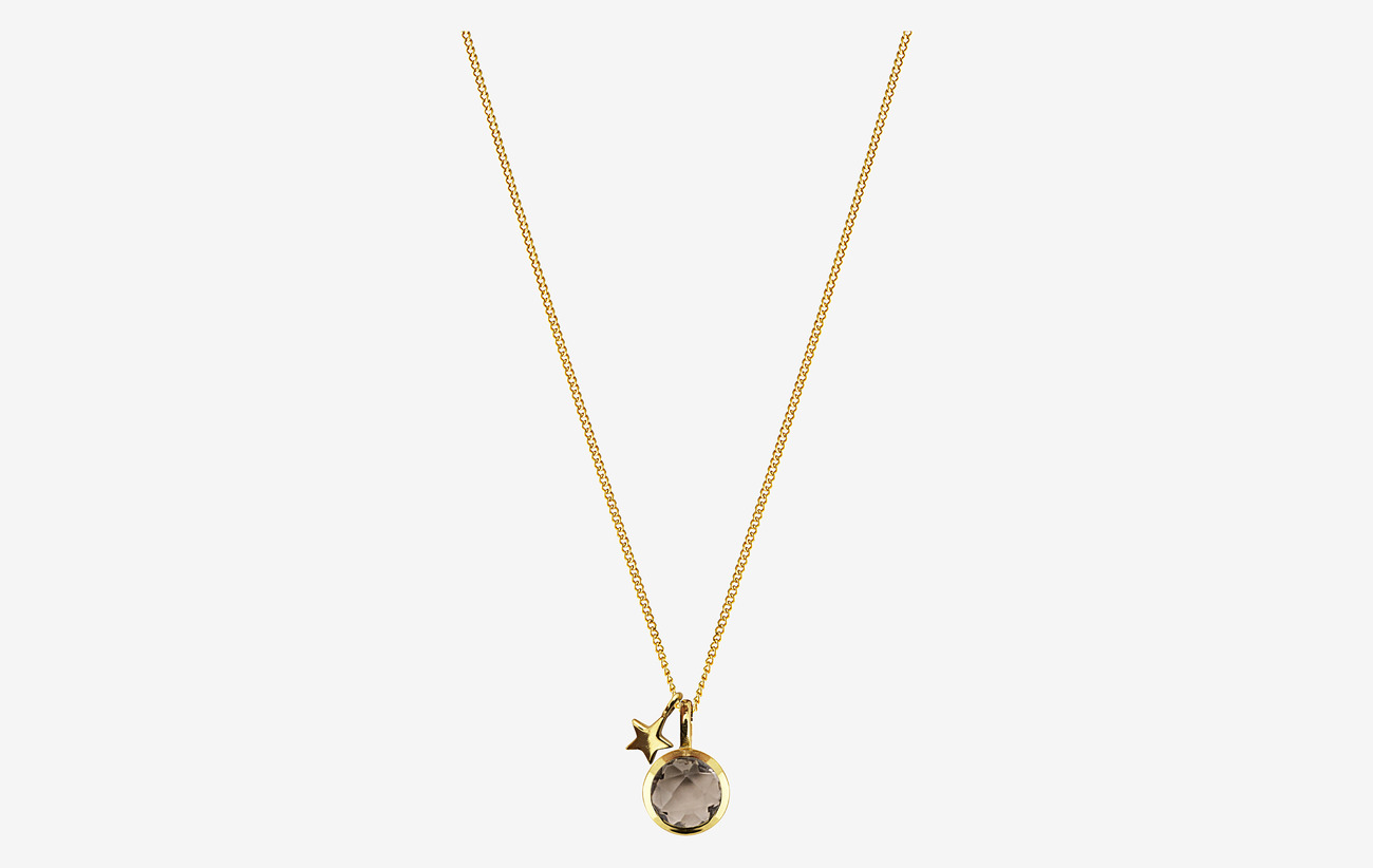 Priscilla Necklace Gold Smokey Gold 71 20 Syster P