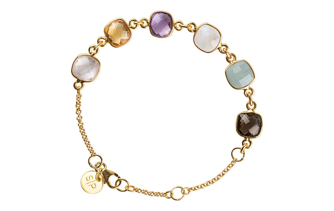 P Cushion Bracelet Gold AquamarinegoldSyster dCBrxoeWQ