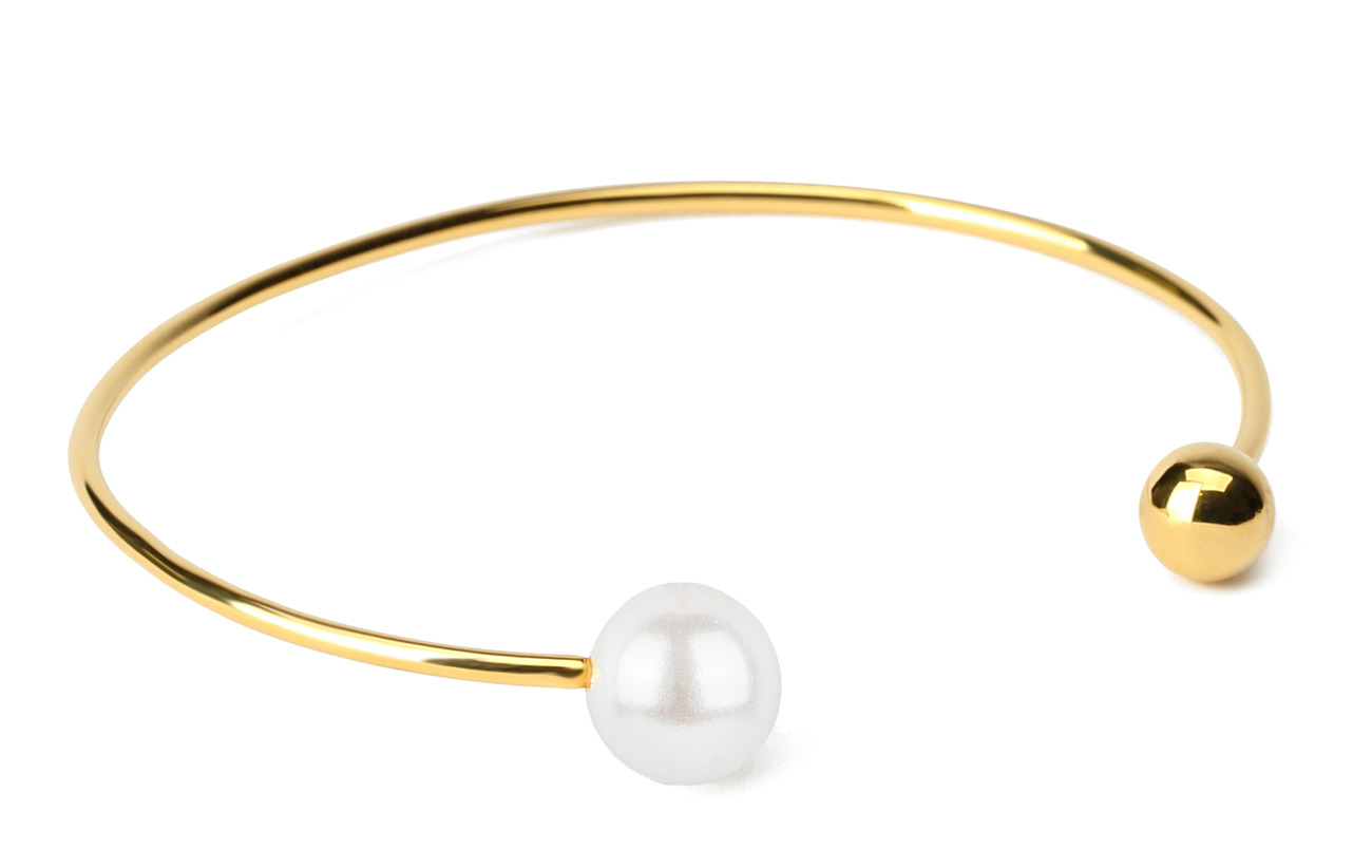Syster P Pearly Double Pearl Bangle vit Smycken