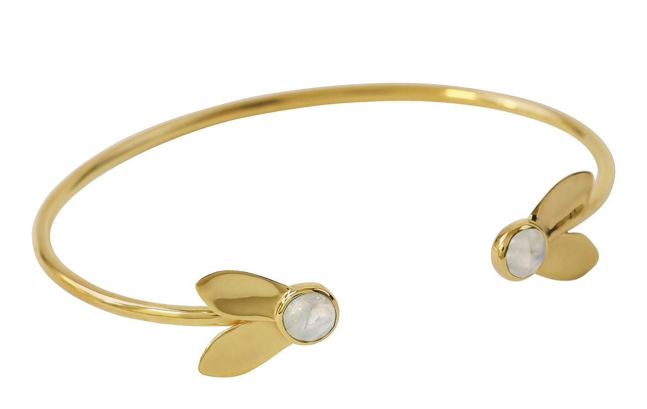 Syster P Flakes Bangle Gold Moonstone - MOONSTONE