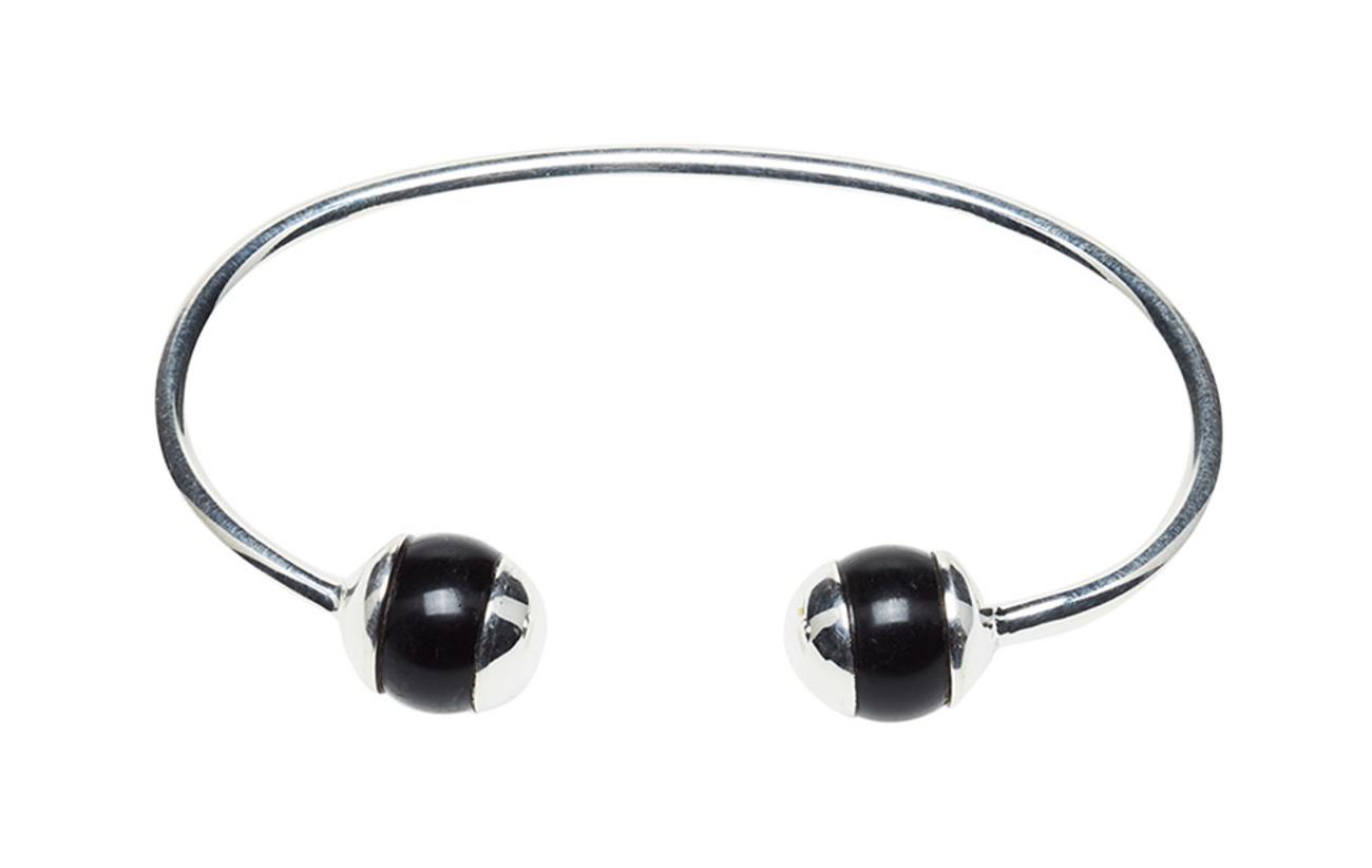 Bangle Black Silver Ball OnyxsilverSyster Deco P A4jLc5Rq3