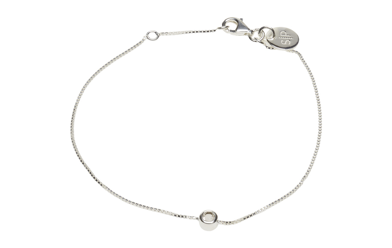 Syster P MINIMALISTICA SOLO BRACELET SILVER CRYSTAL - SILVER
