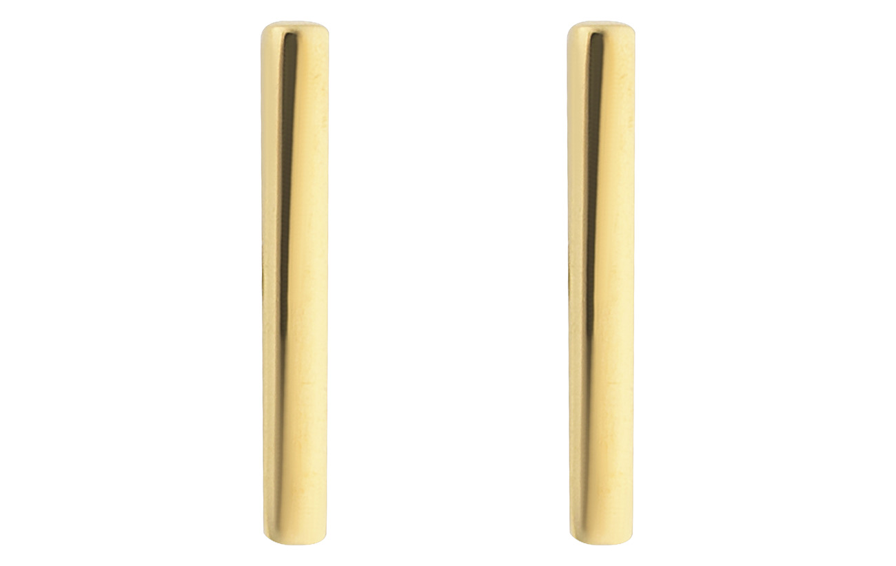 Syster P Strict Plain Bar Earrings Gold - GOLD