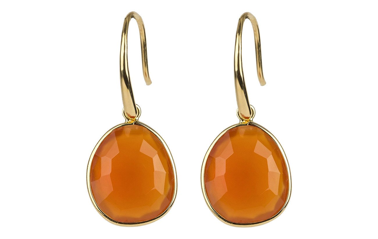 Syster P Glam Glam Earrings Gold - CARNELIAN