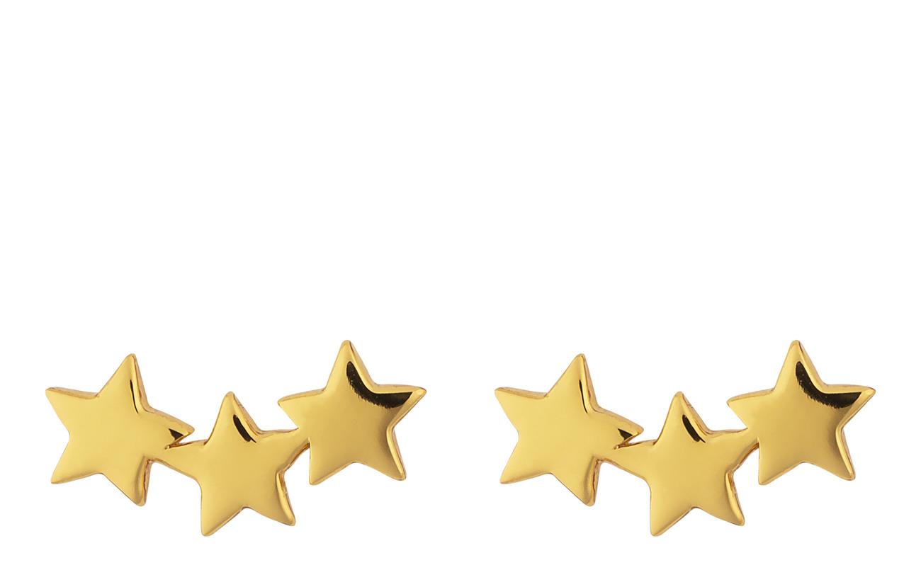 Earrings Star P Triple Snap Plain GoldgoldSyster Aj4L5R