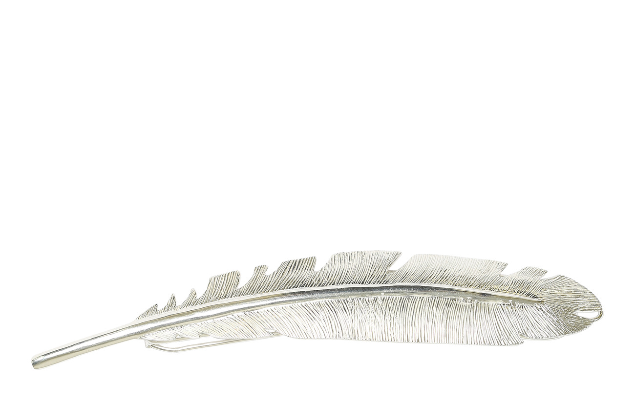Syster P Big Feather Hair Pin Silver - SILVER