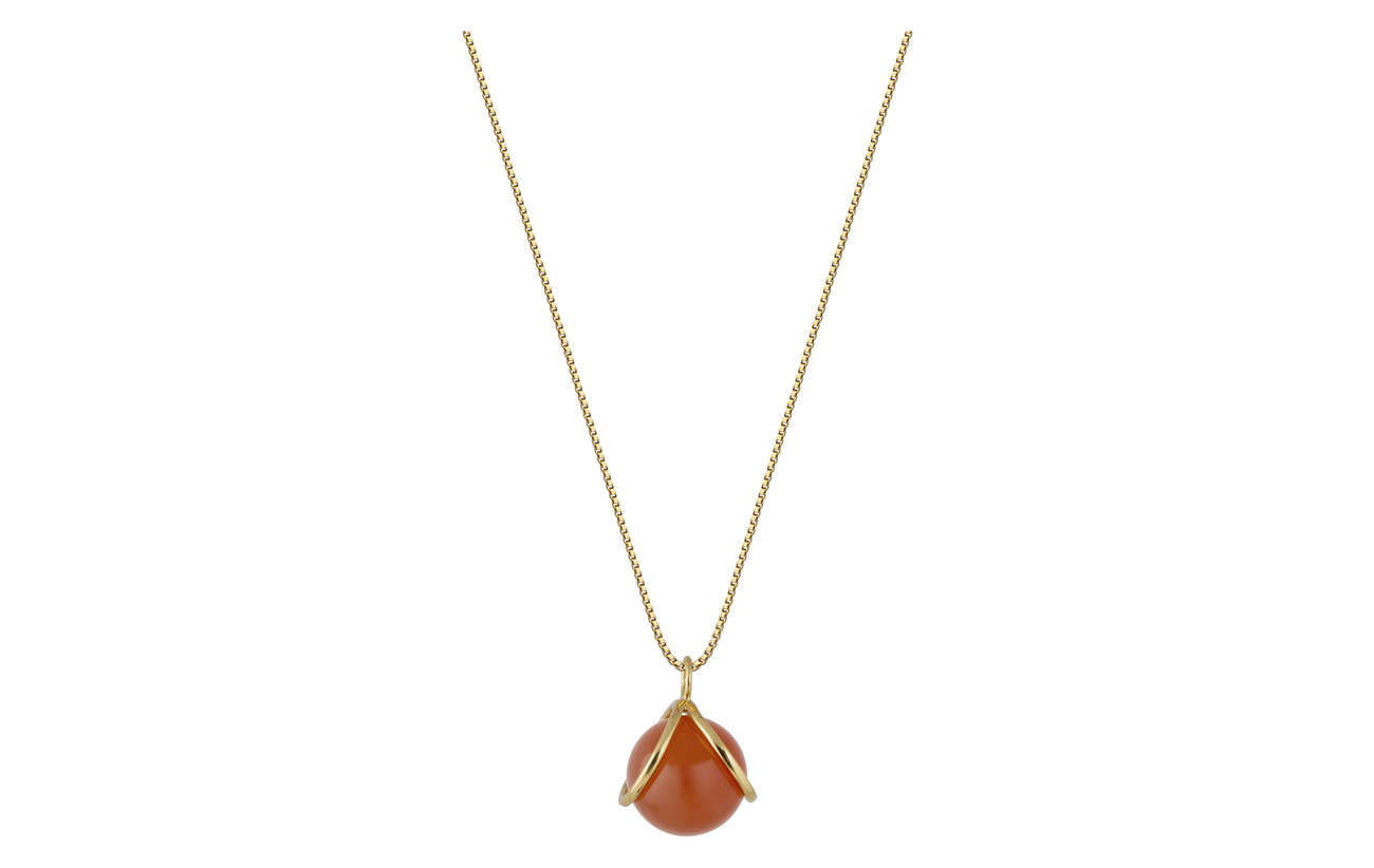 Syster P PLANET NECKLACE GOLD RED ONYX - GOLD