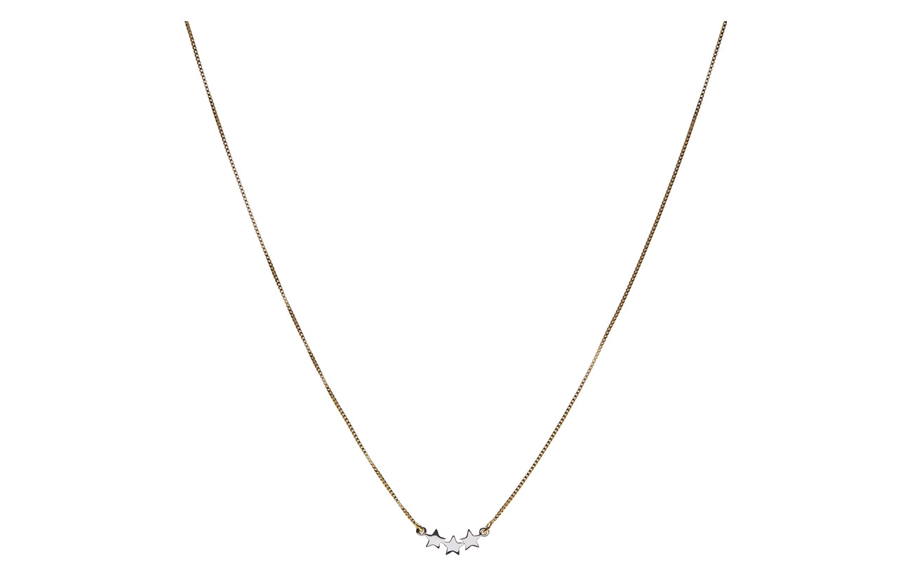 Syster P SNAP NECKLACE TRIPLE STAR PLAIN GOLD - GOLD