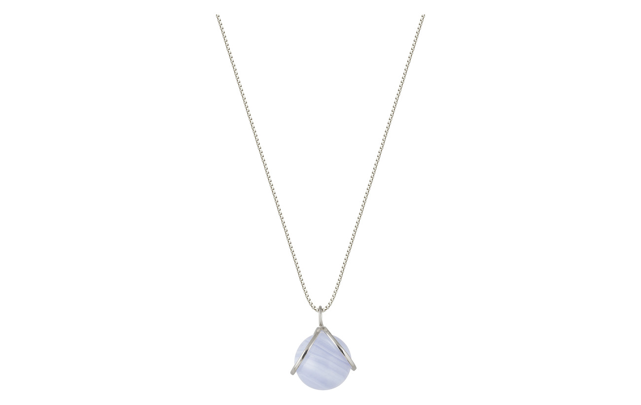 Syster P PLANET NECKLACE SILVER BLUE LACE - SILVER
