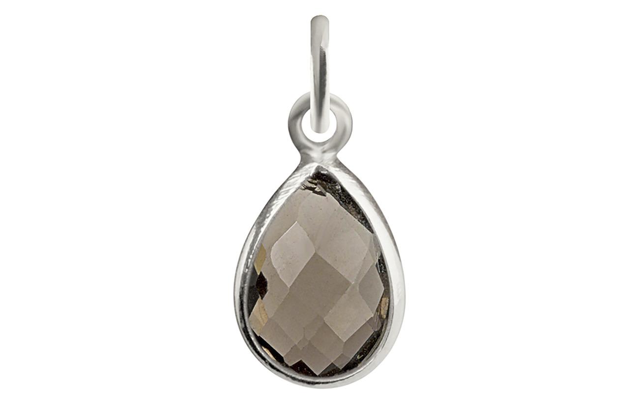 Syster P Beloved Stone Pendant Silver - SMOKEY QUARTZ