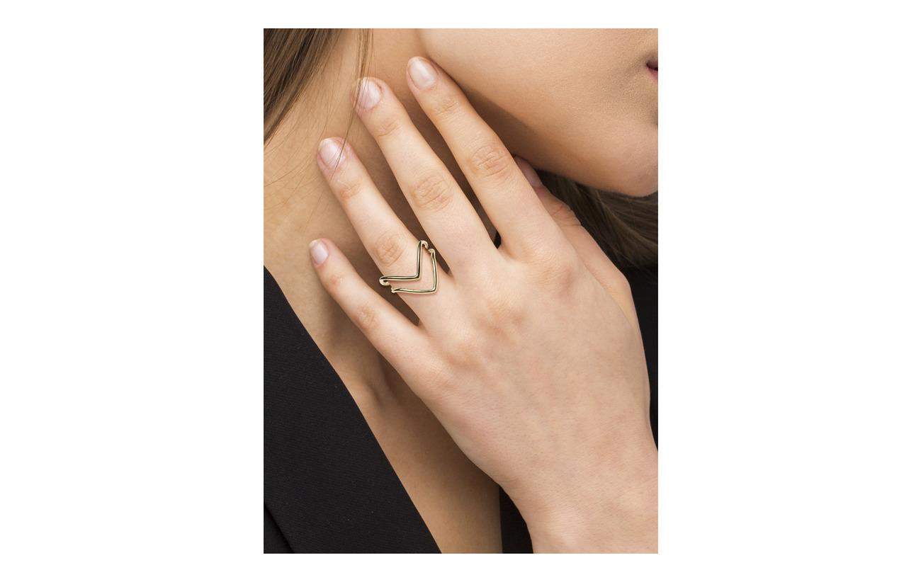 Syster P Tiny Arrow Fingertip Ring guld Smycken