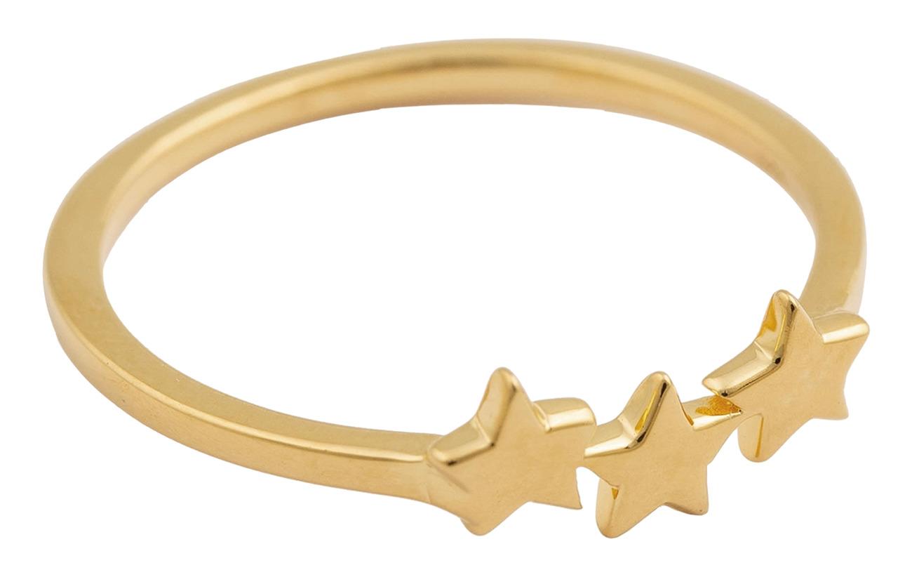 Syster P Snap Ring Triple Star guld Smycken
