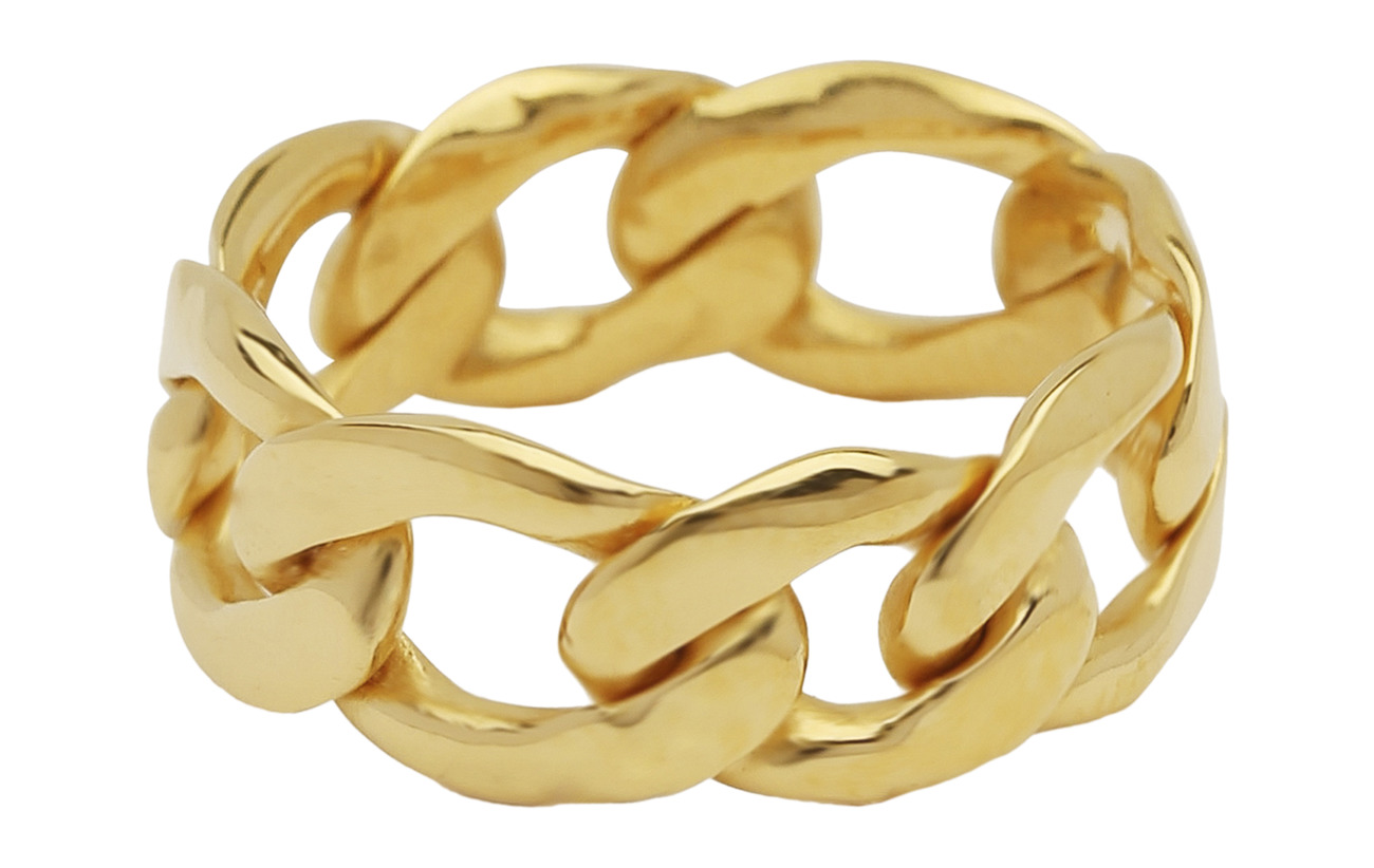 Syster P Links Curb Chain Ring Gold - GOLD